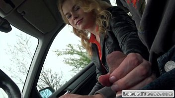 Teen gives handjob and blowjob to stranger in car