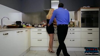 Russian dinner y leads to hot sex in the kitchen