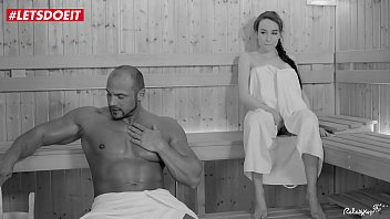 LEDOEIT - Russian Petite Teen Takes On Muscular Guy at The Sauna
